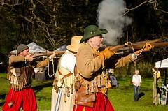 GSM-Bristol weapons demonstration (Pahz) Tags: gsmbristol gsm historicalreenactment reenactors musket gun agatheringofroguesruffians agatheringofroguesruffians2016 pattysmithgrr grr shakespeareontheedge renfaire renaissancefairephotographer renfest newglaruswi wisconsin