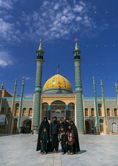 Pilgrims posing in the shrine of sultan ali, Kashan county, Mashhad-e ardahal, Iran (Eric Lafforgue) Tags: 9people architectural architecture ashura buildingexterior chador children colorimage culture day famousplace fullframe groupofpeople iran iranian islam islamic kashancounty mashhadeardahal men middleeast mosque muharram muslim outdoors people persia photography pilgrimage pilgrims placeofworship religion religious shia shiite shrine spirituality veil veiled vertical woman women