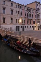 Tired Gondolier (My Italian Sketchbook) Tags: venice italy outdoor landscape venezia italia gondola canal gondolier gondoliere