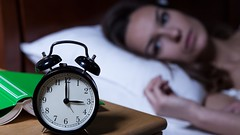 Alarm clock showing 3 a.m. (shaepulkantor) Tags: insomnia clock night table sleeplessness watch woman alarm bed book lying nightmare depression suffering eyes bedroom opened bedside worried duvet awake pillow anxiety sleep pajamas depressed bedding trying interior upset stress lie problems young sleeping home indoors sadness female house sleepless tired disturbed poland