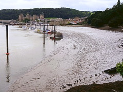 Moorings at Conway (Snapshooter46) Tags: conway conwy northwales moorings boats conwaycastle river mudflats
