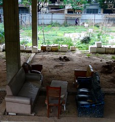 Shady retreat (program monkey) Tags: vietnam hanoi hadong neighborhood garden community abandoned construction couch
