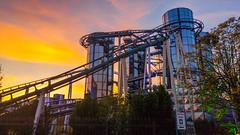 Manège Euro-Mir à Europa Park (mathieudichtel) Tags: europapark rust grand huit rollercoaster couchédesoleil