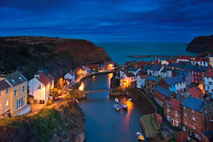 Staithes twilight. (paul downing) Tags: pauldowning pd1001 pauldowningphotography nikon d7200 staithes northyorkshire northyorkshiremoors northsea autumn supermoon nightshot hitech gnd filters