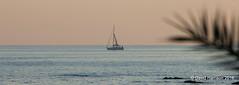 """Sailing Home"" (davidh46) Tags: spain sunset boat sailingboat"