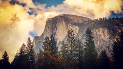 Classic Half Dome (J*Phillips) Tags: california landscape yosemite forest nationalpark mountains halfdome clouds backgrounds drama