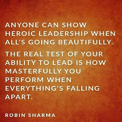 Anyone can show heroic leadership when all's going beautifully. The real test of your ability to lead is how masterfully you perform when everything's falling apart. Sandeep Gautam (Sandy Gautam) Tags: ifttt facebookpages love health wealth money luck happiness friendship motivation inspiring inspiration care positivity fame dollar pond thoughts quotes messages royal dreams achievement harmoney impression attraction sandeep gautam celebrity sandeepguatam mr world universe