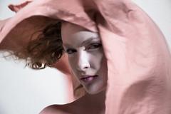 (Taran W) Tags: pink fabric pale skin makeup people portrait portraiture face hair indoor light shadows