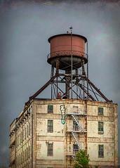 Centennial Mills (docoverachiever) Tags: mill building historic 1910 rust grafitti windows stairs oregon manmade derelict centennialmills watertank flourmill waterfront vacant portland