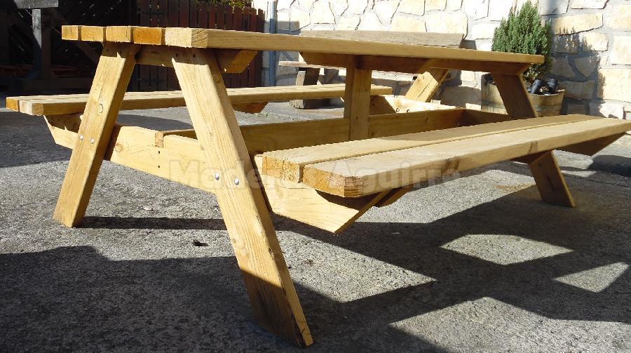 Mesa pino picnic 2400x780x48mm