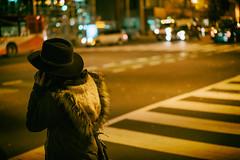 Black Hat (MikeSpeaks) Tags: sonnar5518za washingtondc ustreet blackhat streetphotography crosswalk night city