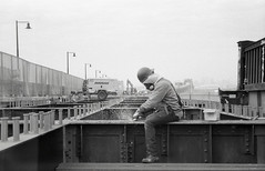 (Matt Allouf) Tags: konicabm510z bigmini 35mm ilford delta 400 black white film pulaskiskyway ironworkerslocal11 newjersey epsonv500