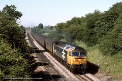 03/07/1989 - Goldthorpe, South Yorkshire. (53A Models) Tags: britishrail class47 47536 diesel parcels goldthorpe southyorkshire train railway locomotive railroad