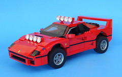 Ferrari F40 Dakar (LegoMarat) Tags: lego scalemodel mod creator 10248 dakar rally