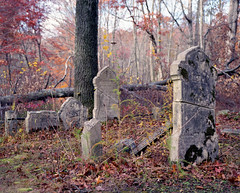 (.tom troutman.) Tags: mamiya 7 film analog 120 6x7 mediumformat 80mm nj abandoned graveyard fall autumn