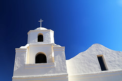 Old Adobe Mission (studioferullo) Tags: adobe architecture arch arches art beauty bluesky bright building buildings church sanctuary chapel city classic white blue colors contrast cross design detail downtown edge edges facade high historic light minimalism mission old outdoor outdoors outside perspective pretty scene serene tranquil shadow shadows sky skyline study sunny sunlight sunshine steeple street texture tone tones tower town window world oldtown scottsdale arizona