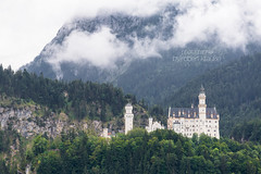 Clouds are hanging low... (redEOS92) Tags: travel mountain castle nature berg architecture fairytale clouds forest germany landscape bayern deutschland cloudy disney rainy neuschwanstein schloss schwangau