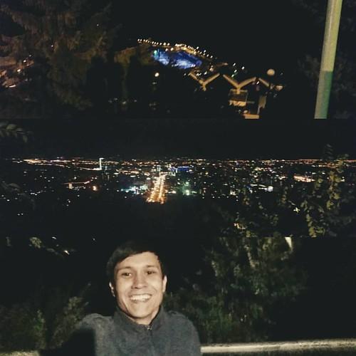 Сегодня отлично проводил время... Посмотрел на вид ночного самого красивого города с высоты Кок-Тобе и поднялись на горы, подышали свежим и чистым  воздухом Медеу, еще там вкусная и полезная водичка из родничка... Свежий воздух и тишина, отличная настроен
