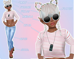 #5 Stripy Saturday (cυddly waғғle) Tags: life cluster mandala sl second glam rc affair muka alyce kitja flowey kustom9 collabor88