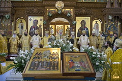 77. Glorification of the Synaxis of the Holy Fathers Who Shone in the Holy Mountains at Donets. July 12, 2008 / Прославление Святогорских подвижников. 12 июля 2008 г