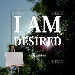 """""""Ik ben gewenst"""" Canvasdoek (Zalving.nl - De Zalfolie Webwinkel) Tags: poster god jesus canvas identity yeshua proclamation doek christelijk christelijke"""