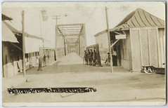 International Bridge, Laredo, Tex (SMU Central University Libraries) Tags: bridges soldiers internationalbridge militarypersonnel rppc usmexicoborder