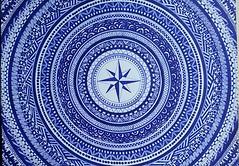 ROSA DEI VENTI (luca_rupi) Tags: photoshop scanner drawing vector retouching bluewhite rosadeiventi madebyfriend silviacurumi