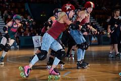 rebels_vs_panic_L3506397 1 (nocklebeast) Tags: ca usa santacruz rollerderby rollergirls zombies vampires skates organicpanic santacruzderbygirls redwoodrebels