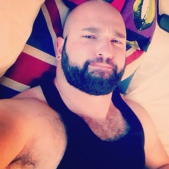 (Sam Hendi) Tags: bear gay hairy beard muscle beefy bald vest