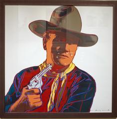 Warhol gets His Lick In (Pete Zarria) Tags: art film andy modern john painting movie wayne duke iowa hero western warhol