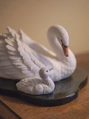 Mother and Child Moment (cobalt123) Tags: family birds swan memories gosling elgin figurine porcelain keepsake