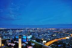 Sirocco Bar (NoDurians) Tags: skyline bar thailand bangkok skybar statetower sirocco blauestunde lebua