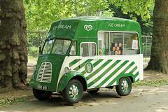 1958 Morris J-Type Ice Cream Van (BIKEPILOT, Thx for + 6,000,000 views) Tags: green london classic vintage transport icecream 1958 vehicle hydepark van londonparks morrisjtype