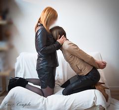 elle_et_lui28 (Cuir Couple) Tags: leather sm mistress leder femdom slave cuir matresse ballbusting soumis
