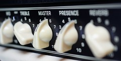 Louder! (explore) (Carlos Lubina) Tags: macro vintage guitar master valve controls amplifier allinarow macromondays