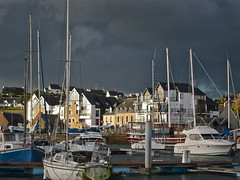 Cloudy Morning (Anna Sikorskiy) Tags: world morning autumn light sea sky urban stilllife sunlight abstract france colors beauty lines skyline architecture clouds marina canon buildings season landscape boats town europe artistic fineart lifestyle atmosphere bretagne naturallight explore canonpowershots90