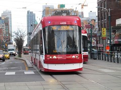 TTC 2015 Bombardier Flexity Outlook #4409 (Views from the Seven Photography) Tags: new toronto downtown chinatown ttc tourist destination spadina dundas avenue streetcars blogto