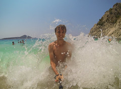 Kaputas Beach GoPro selfie (travelordiephoto) Tags: beach turkey kaputas