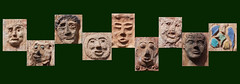 facial expressions (Jac Hardyy) Tags: sculpture green art face wall town mural gesicht faces mask modeling expression kunst expressions relief masks clay mold grün mould moulding modelling sculptures facial mimic ton modeled earthenware reliefs maske warburg masken earthen plastik fictile gesichter ausdruck gesichtsausdruck mimik künstlerisch modelled erdfarben artistical modellieren tonplastik tonplastiken modelliert wandrelief tonware irden wandreliefs