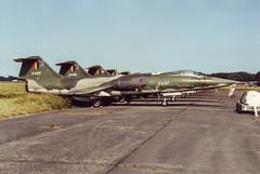 Koksijde 1987 : Belgian air force F-104G FX07 (Hermen Goud Photography) Tags: belgium aircraft aviation belgi lockheed airfields militair belgianairforce f104g vliegvelden f104starfighter koksijdeebfnbkoks preservedmuseum fx07f104gstoragekoksijde