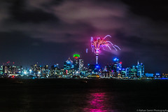 wish you all a happy new year (samir rafsan) Tags: city newzealand sky water night clouds landscape nikon long exposure cityscape image fireworks auckland nz astounding 2016 d3200