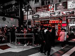 Shashin - DSCN2711 (Mathieu Perron) Tags: life city bridge people bw white black monochrome japan nikon noir perron daily nb journey  mp blanc japon personne ville gens vie mathieu   sjour   quotidienne      p520  zheld