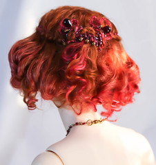 Angora mohair wig for sale (SophyMolly) Tags: switch ginger beads doll sale goat curly wig short mohair raspberry romantic bjd angora custom soom abjd adoption braid customdoll uhui