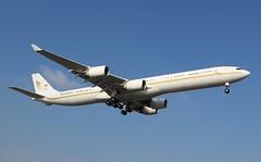 Airbus A340-642. HZ-SKY. Sky Prime. (Themarcogoon49) Tags: airbus a340 bizjet vip aircraft landing gva airport cointrin lsgg avgeek switzerland planespotting