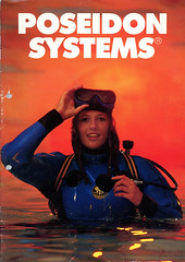 Poseidon Systems catalogue 1984 (Arne Kuilman) Tags: poseidon poseidonsystems poseidoncatalogue catalogue catalogus magazine model cover front 1984 poseidonindustriab sweden zweden diving duiken retro wetsuit drysuit woman