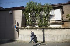 Town of the afternoon sun / JAPAN (mokuu) Tags: light 光 afternoonsun 西日 wall 壁 shadow 影 walk 歩く oldtown 古い町