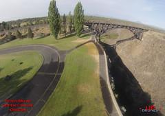 DU PKOgden 3 (bradleybennett) Tags: drone drones fly high quad copter blade 350qx3 remote control flying peter skene ogden canyon oregon bungee jump jumper jumping park bridge water creek stream