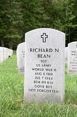 Gravesite of Richard Bean (patchais) Tags: division infantry saipan 27th