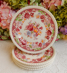 Johnson Brothers Porcelain Salad Plates ~ Winchester ~ Floral (Donna's Collectables) Tags: johnson brothers porcelain salad plates ~ winchester floral thanksgiving christmas