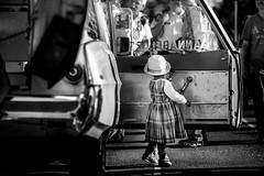 Jessie (michaelinvan) Tags: little girl summer richmond worldfestival minoru old ambulance canon 5d2 135mm f2 portrait backsight door dress